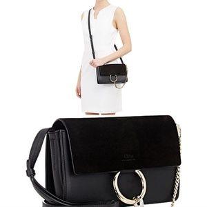 AUTHENTIC! Chloe Faye Small Shoulder Bag Black